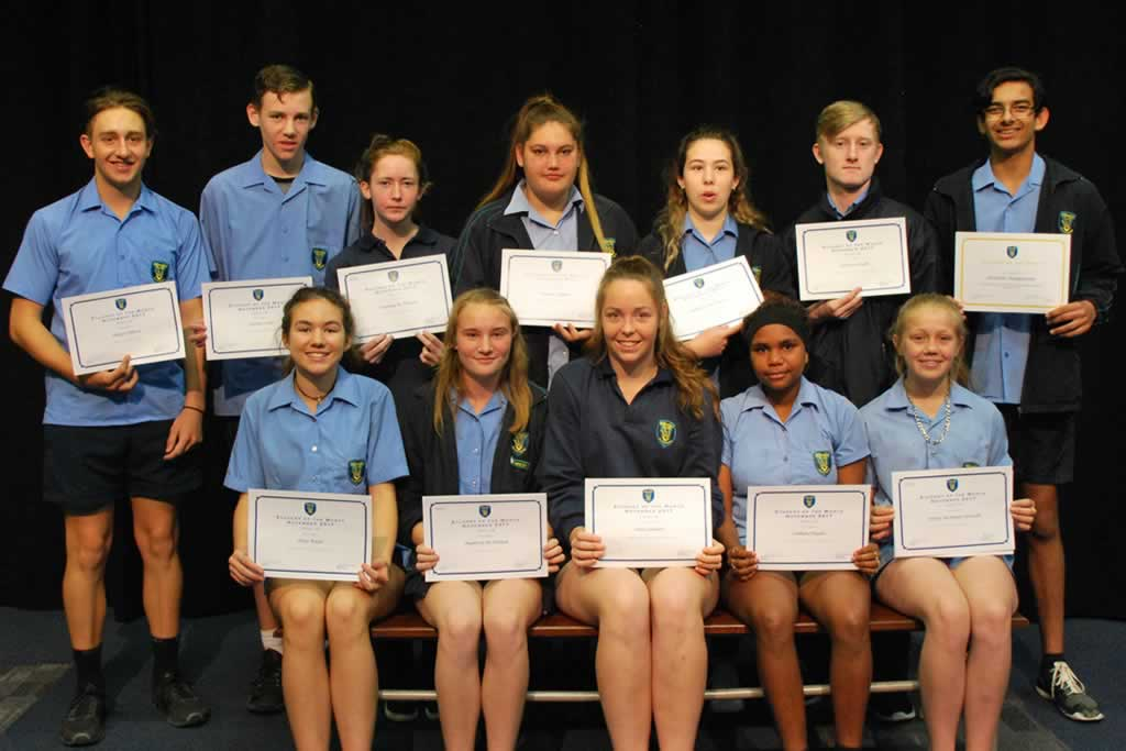 Secondary Student of the Month Assembly – Term 4, Week 4