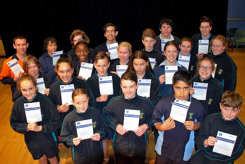 Secondary Assembly – Semester One Highest Acheivers